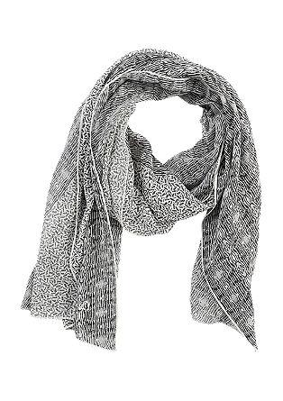 Asymmetrische sjaal met een motief