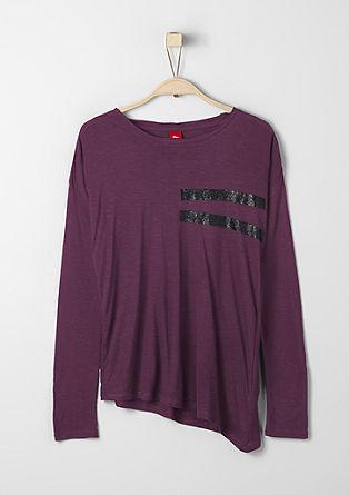 Asymmetrisches Shirt mit Glitzerfarbe
