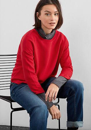 Asymmetrisches Struktur-Shirt
