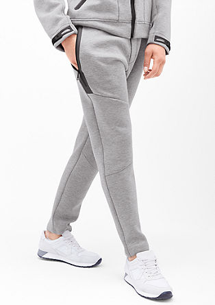 Athleisure trousers in a neoprene look from s.Oliver
