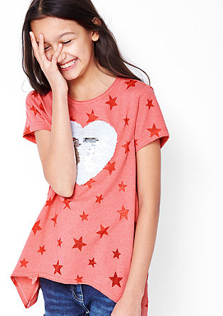 Ausbrenner-Shirt mit Wendepailletten