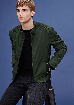 Aviator-style jacket with a subtle sheen from s.Oliver