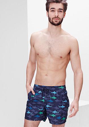 Badeshorts mit Haifisch-Print