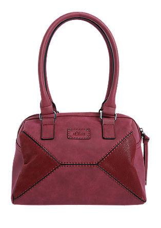 Baguette Bag im Materialmix