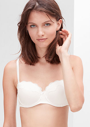 Balconette bra with lace from s.Oliver