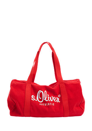 Barrel bag met logoprint