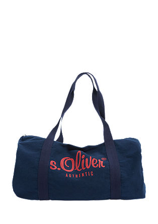 Barrel Bag mit Logo-Print
