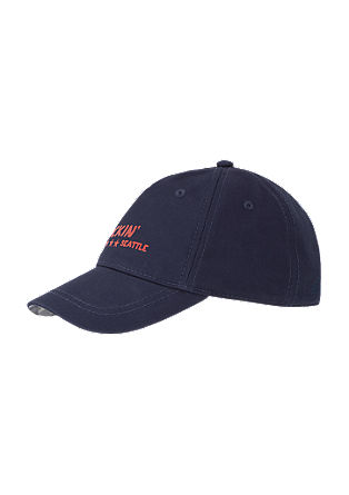 Baseball cap with printed lettering from s.Oliver