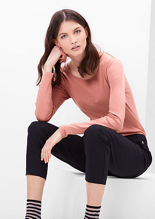 Basic long sleeve cotton top from s.Oliver