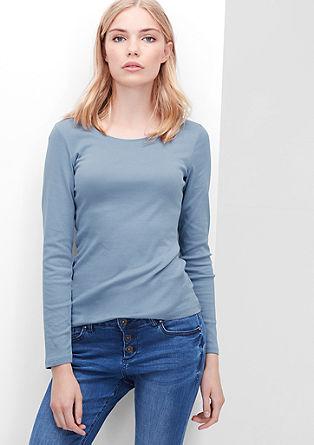 Basic-Longsleeve aus Baumwolle