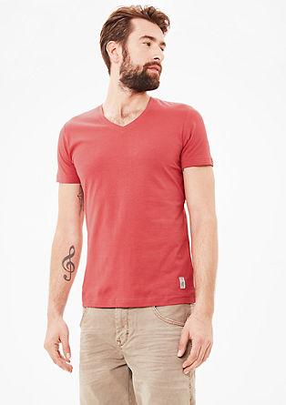 Basic majica z V-izrezom
