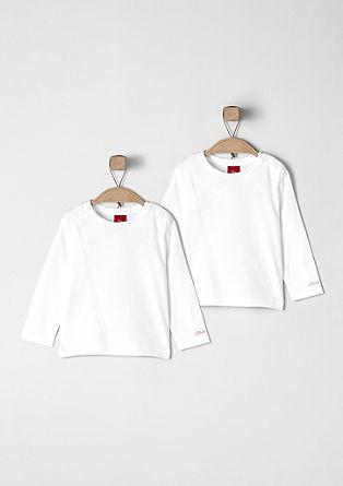 Basic majice z dolgimi rokavi, dvojno pakiranje