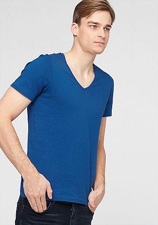 Basic-Shirt aus Baumwolljersey