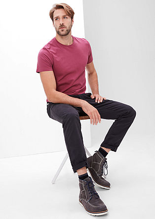 Basic-Shirt aus Jersey