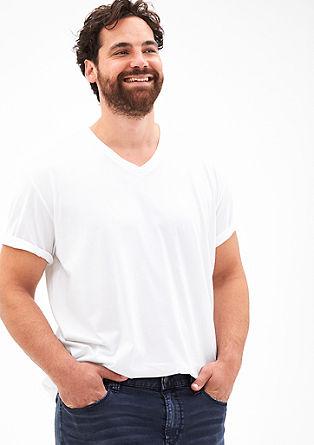 Basic shirt met V-hals