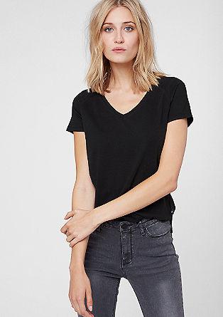 Basic-Shirt mit Zipfelsaum
