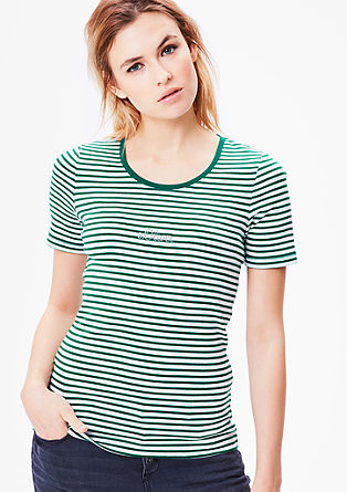 Basic T-Shirt mit Muster