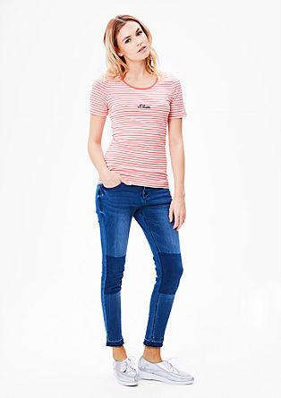 Basic T-Shirt mit Muster