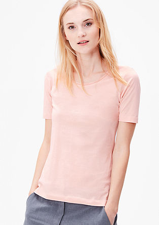 Basic T-shirt with a crew neckline from s.Oliver