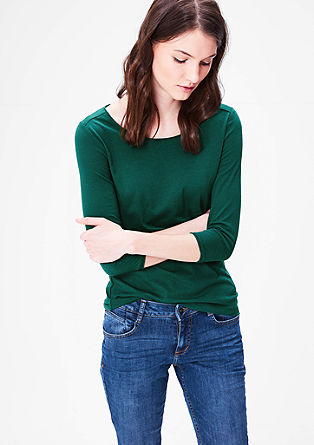 Basic top with 3/4-length sleeves from s.Oliver