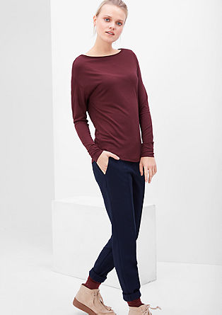 Bateau neck viscose top from s.Oliver