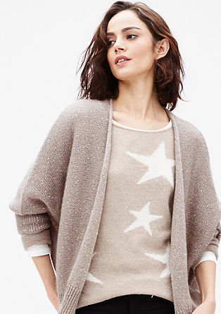 Batwing cardigan with sequins from s.Oliver