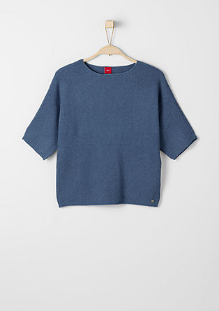 Batwing jumper in piqué from s.Oliver