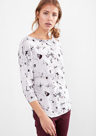 Batwing sweatshirt with all-over print from s.Oliver
