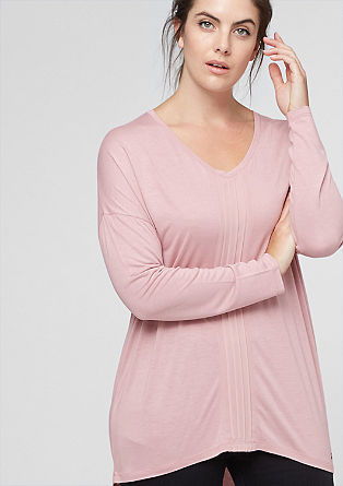 Batwing top with chiffon from s.Oliver