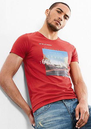 Baumwollshirt mit Printcollage