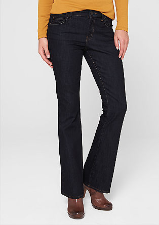 Bellboot: flared dark denim jeans from s.Oliver