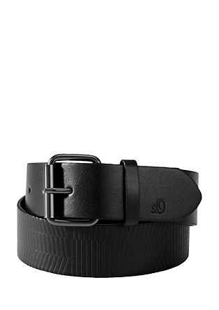 Belt with a textured pattern from s.Oliver