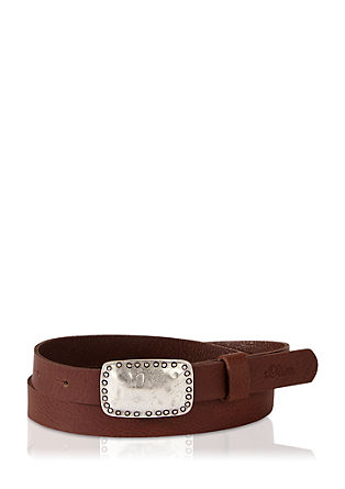 Belt with an elegant clip buckle from s.Oliver
