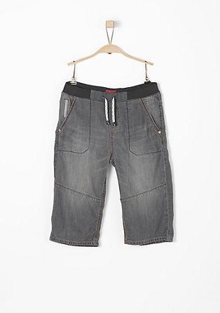 Benno: 3/4 jeans hlače z rebrasto obrobo