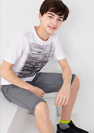 Benno: bermuda hlače s tkano strukturo