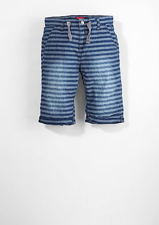 Benno: striped canvas Bermudas from s.Oliver