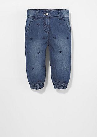 Bestickte Hose mit Bündchen
