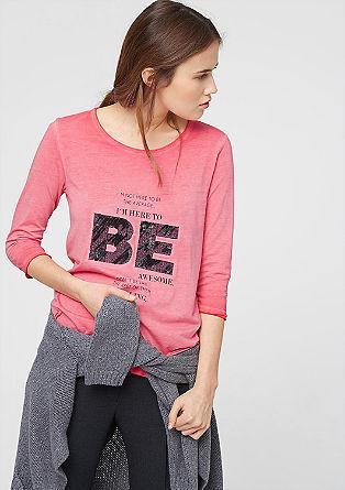 Besticktes Doubleface-Shirt