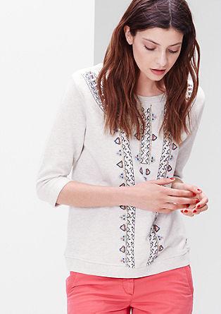 Besticktes Ethno-Sweatshirt