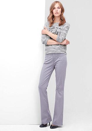 Besticktes Jacquard-Sweatshirt