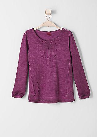 Besticktes Pigment Dye-Shirt