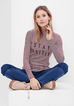 Besticktes Rippshirt