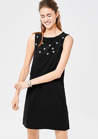 Besticktes Stretch-Kleid