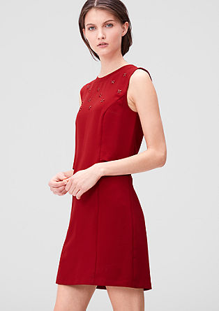 Besticktes Stretch-Kleid