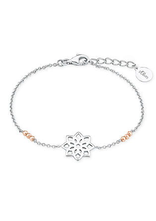 Bicolor-Armband 'Blume'