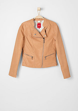 Biker jacket in imitation leather from s.Oliver