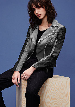 Biker jacket with colour graduation from s.Oliver