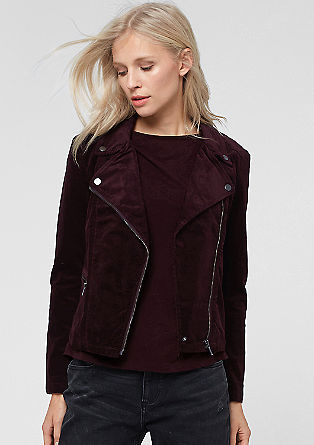 Biker-style corduroy jacket from s.Oliver