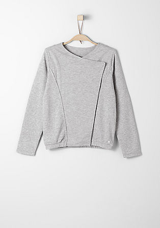 Biker-style sweatshirt jacket from s.Oliver