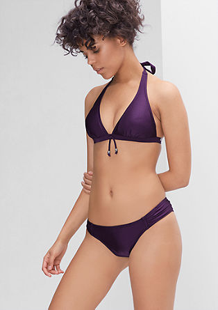 Bikini bottoms with side gathers from s.Oliver